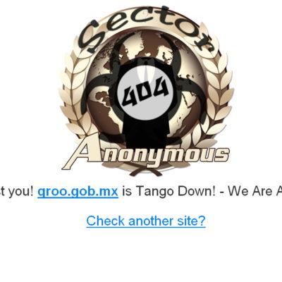 Cumple 'Anonymous' amenaza y tumba portal del Gobierno de QR por censura y ataques contra Noticaribe y Luces del Siglo