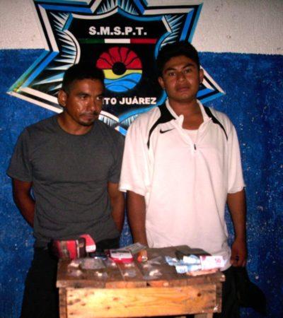 Capturan a los dos primeros narcomenudistas durante los primeros minutos del martes en Cancún