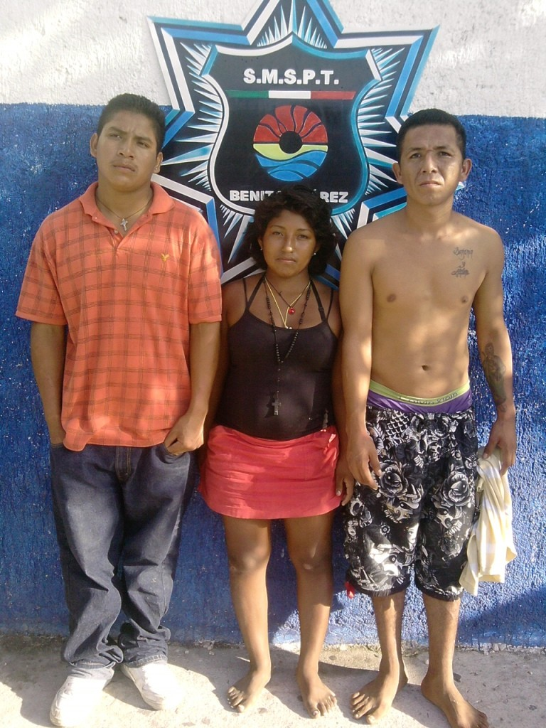 Capturan a trío de narcomenudistas en la SM 68 de Cancún