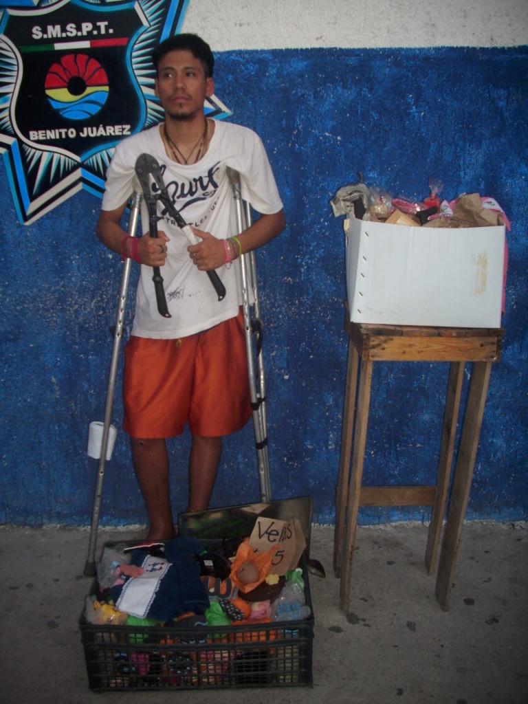 Atrapan a ladrón enmuletado en el parque Las Palapas de Cancún