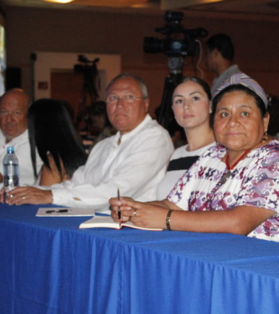 Los pueblos indígenas en América Latina viven un grave problema de desnutrición crónica: Rigoberta Menchú en Cancún