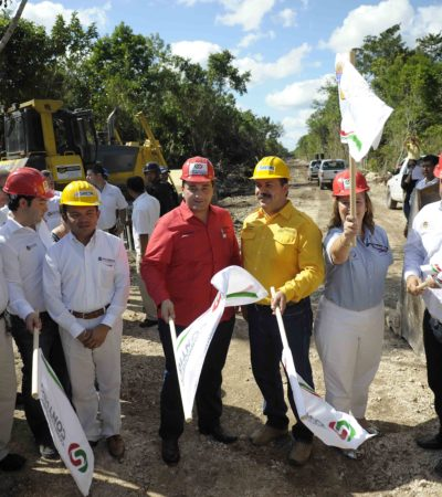 Dan banderazo a obras del nuevo relleno sanitario en medio de una 'guerra de porras' entre Gobernador y Alcalde de Cancún
