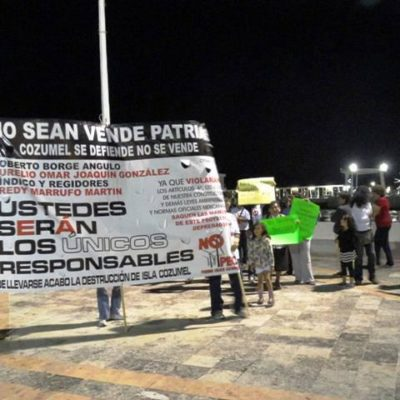 Protestan en Cozumel contra el nuevo proyecto de parque eólico