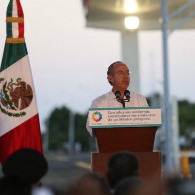 Desde el sur de QR, Calderón defiende su iniciativa de cambiarle el nombre al País