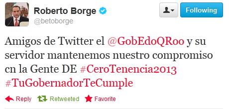 No se cobrará tenencia en 2013, anuncia Borge en Twitter para atajar polémica por omisiones en Ley de Hacienda