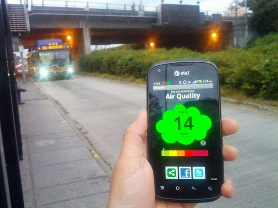 El futuro en el móvil: diseñan sensores personales para ver la calidad del aire