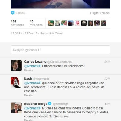 En Twitter, anuncia ex Gobernadora de Yucatán, Ivonne Ortega, embarazo