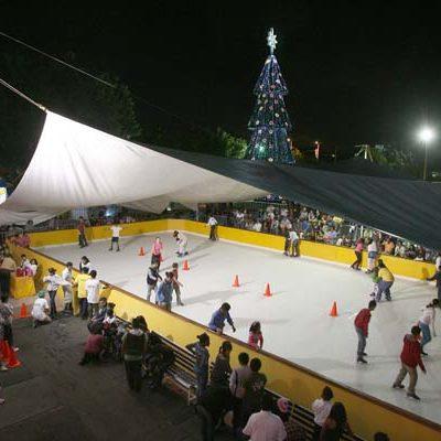Anuncian horarios especiales de la pista de hielo de Cancún para el 31 de diciembre y 1 de enero