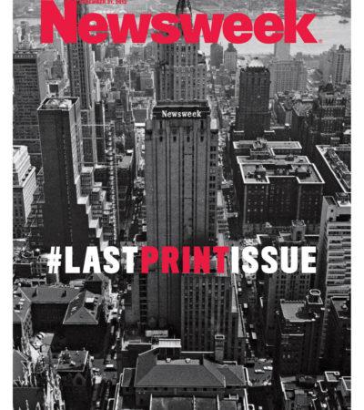 Difunden la última portada impresa de la revista Newsweek: tras 80 años seguirá sólo en la red