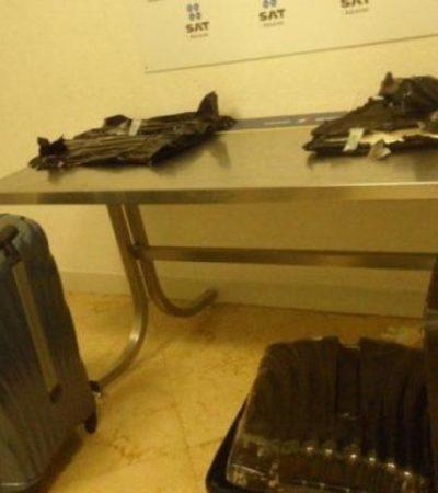 Aseguran más de 6 kilos de cocaína en aeropuerto de Cancún procedente de Panamá; no hay detenidos