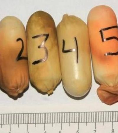 Suman casi 20 kilos de cocaína decomisados en aeropuerto de Cancún en 15 días