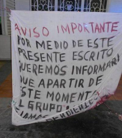 Aparecen en Cancún 2 narcomantas de supuestos 'Pelones' para avisar que se unen al Cártel del Golfo