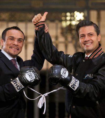 Le regala Márquez a Peña los guantes con los que noqueó a Pacquiao