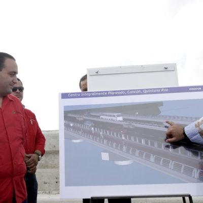 Acuerdan Gobierno y Fonatur derribar hasta mediados de enero el polémico muro del puente Calinda en Cancún