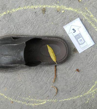 Ejecutan de 2 balazos, incluyendo el tiro de gracia, a un narcomenudista en la colonia Cetina Gasca de Puerto Morelos