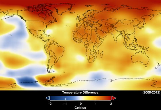 El 2012, el noveno año más caliente desde el 1880, revelan datos de la NASA