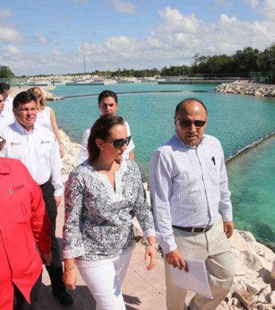 Con reunión con cruceristas y recorrido por la Marina Cozumel, concluye visita de secretaria de Turismo por QR