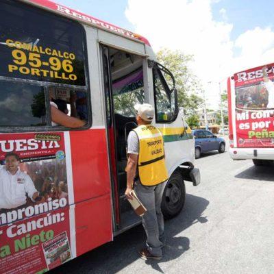 Celebran PAN y PRD 'golpe' del IFE a la 'propaganda oculta' de la alianza PRI-PVEM en camiones con portadas de periódicos