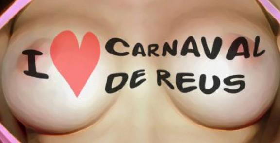 Polémica por un cartel del Carnaval de Reus con una chica que muestra los pechos