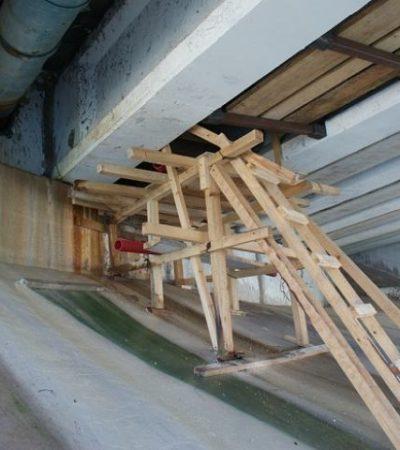 Presenta puente Calinda fisuras