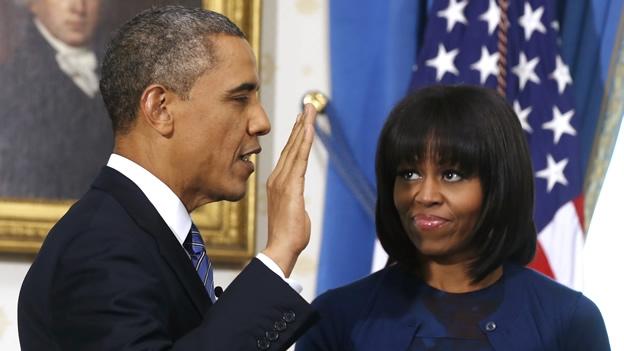 Juran Barack Obama y Joe Biden para segundo mandato en EU