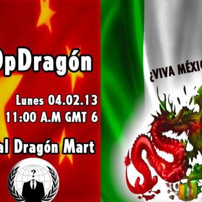 """Confirma 'Anonymous' #OpDragon para el próximo lunes: habrá ataques contra el """"corrupto"""" Gobierno de QR en rechazo al 'Dragon Mart Cancún'"""