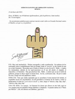 Se burla 'Marcos' de la 'Cruzada contra el Hambre' de Peña Nieto y le advierte: limosnas, a otro lado