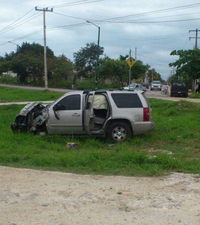 Borrachazo de escolta de la Primera Dama: choca en Cancún guarura de Mariana Zorrilla de Borge