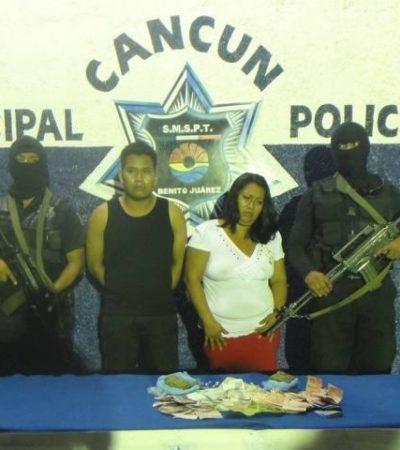 Cae pareja de narcomenudistas en la SM 63 de Cancún