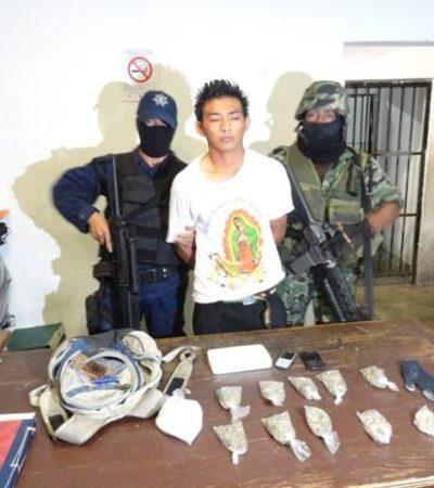 Procedente de Dallas, detienen en aeropuerto de Cozumel a pasajero con marihuana