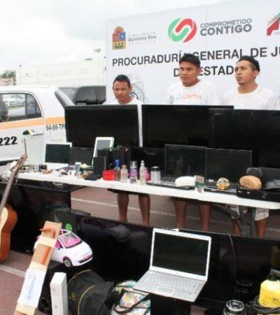 Cae banda de ladrones en Chetumal; un taxista, implicado