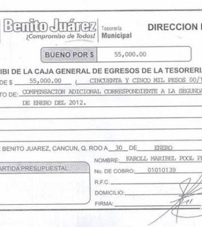 Ventilan presuntos recibos de compensaciones adicionales para regidores de Cancún