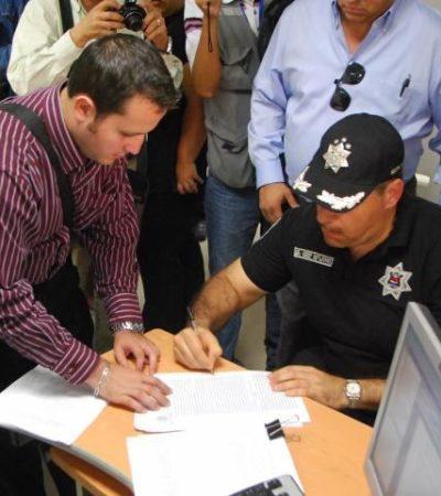 Presenta jefe policiaco de Cancún declaración por escrito por detención de brigadistas de Borge