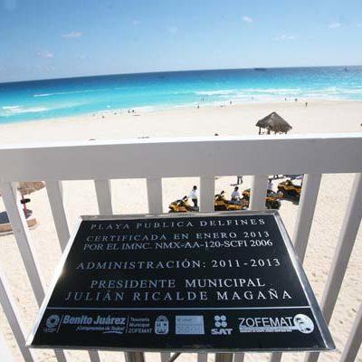 Obtiene Cancún certificación de calidad de Playa Delfines