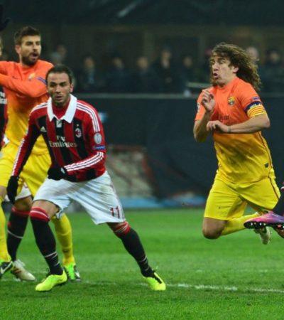 Tropieza y se hace pequeño el Barsa ante el Milán y se complica su avance en la Champions League