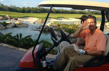 Descansa Peña Nieto en Cozumel y juega golf con Gamboa en Mérida en la víspera del XI Foro Nacional de Turismo en Cancún