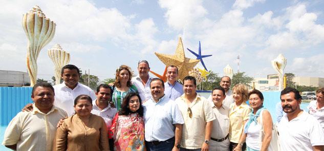 Rescatan la glorieta del 'Ceviche' en Cancún