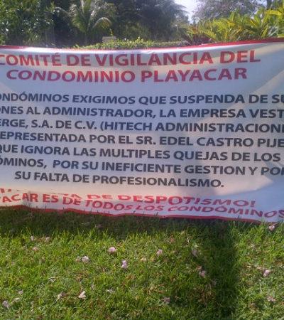 REVIENTA CONFLICTO EN PLAYACAR: Vecinos bloquean acceso al exclusivo complejo hotelero-residencial para exigir destitución de administrador