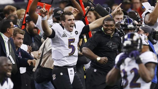 SUPER BOWL: Vencen los Cuervos de Baltimore 34 a 31 a los 49ers de San Francisco y ganan su segundo Super Tazón