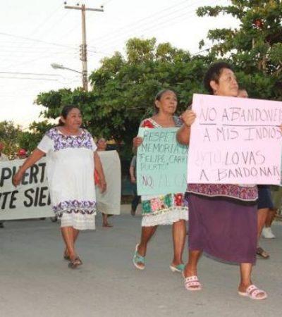 Marchan contra el cambio de nombre de Felipe Carrillo Puerto