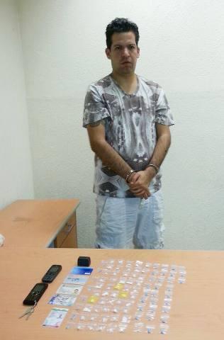 Detienen en Playa a presunto 'Zeta' con 'crack', droga sintética y LSD