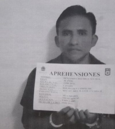 Capturan a hombre por violar a su hijastra de 9 años en la Región 107