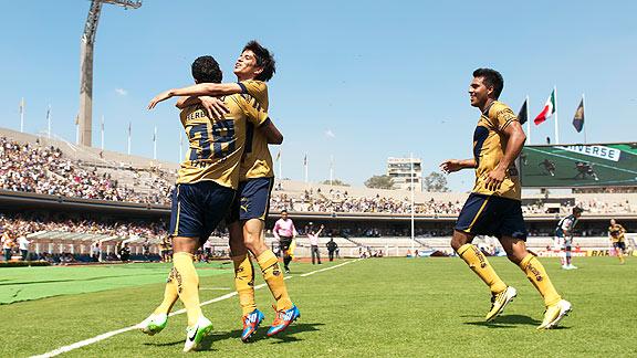 Rompe Pumas racha perdedora y se impone en casa 1-0 a Monarcas