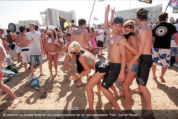 Promueven en bares y hoteles excesos de 'springbreakers'