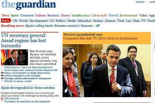 Se desdice 'The Guardian' y pide disculpas por vincular a Televisa con Peña Nieto