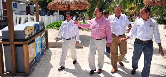 Develarán placa que certifica calidad de Playa Las Perlas en Cancún