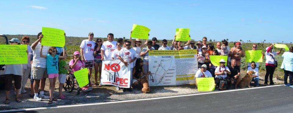 'CLAUSURAN' PARQUE EÓLICO: Cozumeleños protestan contra polémica inversión y piden a Pedro Joaquín frenar el proyecto