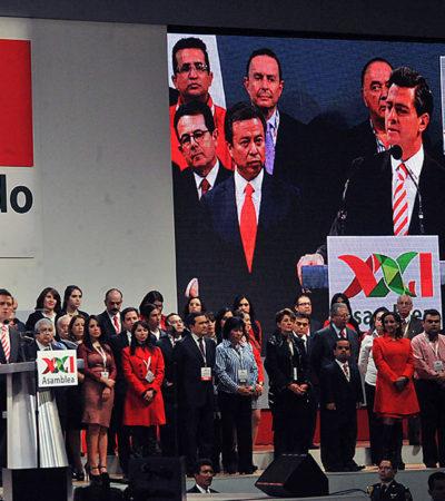 """""""No hay intocables"""", dice Peña Nieto al ser arropado como 'jefe máximo' del PRI; ratifican quitar candados del IVA a medicinas y alimentos"""