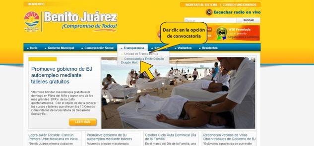 Pone gobierno de Julián Ricalde link para opinión pública sobre 'Dragón Mart'