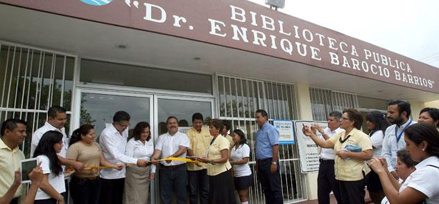 Inauguran proyecto de biblioteca digital en la 'Barocio Barrios'